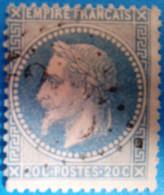 France 1863 : Type Napoléon III Lauré N° 29B Oblitéré - 1863-1870 Napoléon III Lauré