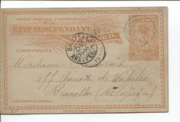 Belgisch Congo Belge CP 15 Popokabaka En 1900 + Boma V.Bruxelles C.d'arrivée PR1748 - Entiers Postaux