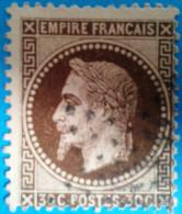 France 1863 : Type Napoléon III Lauré N° 30 Oblitéré - 1863-1870 Napoléon III Lauré
