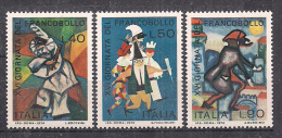 ITALIA 1974  GIORNATA DEL FRANCOBOLLO SASS. 1279-1281 MNH XF - 6. 1946-.. República