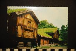 NORVEGE  NORGE NORSK FOLKEMUSEUM OSLO  VIEILLE FERME DE SETESDAL  OLD FARM HOUSE FROM SETESDAL - Noruega