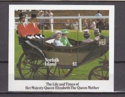 Norfolk Island 1985,1 Block,carriage,rijtuig,carro,carrello ,royal Family, MH/Ongebruikt(A1576) - Transportmiddelen