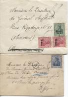 Guerre-Oorlog 14-18 Etapes S/2 Enveloppes V.Anvers De Quaregnon+Gff Zulässig ...PR1754 - [OC26/37] Staging Zone