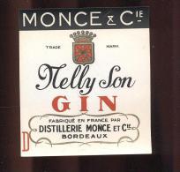 Etiquette De  Gin  -  Nelly Son  -  Monce Et Cie Bordeaux  (33) - Labels