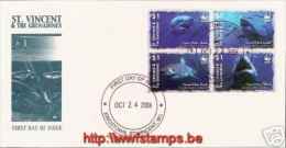 """""""50% DISCOUNT WWF - SAINT VINCENT GRENADINES - 2006 - Local FDC - 4 Stamps On 1 FDC"""" - Ohne Zuordnung"""