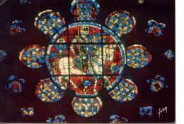 Chartres Cathédrale Petite Rose Du Choeur Côté Nord Louis De France Fils De Philippe Auguste Donateur Du Vitrail (XIIIè - Chartres