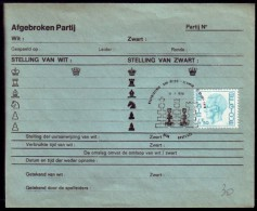Schaken Schach Chess Ajedrez échecs - Belgie - Oostende 21.07.1976 - Echecs