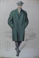 Magnifique Affichette De Mode - Hiver 1958-59.  Dessin De Simon.   (Exceptionnel) - Affiches