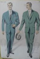 Magnifique Affichette de Mode - Hiver 1958-59.  Dessin de Simon.   (Exceptionnel)