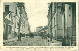 Vom Östlichen Kriegsschauplatz GRODNO (Bielorussia) Hrodna Гродна Zigarettenfabrik TABAC TOBACCO Tobacciana Feldpo - Weltkrieg 1914-18