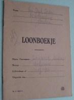 LOONBOEKJE Firma Van Dijck Isidoor Berchem Voor LAUWERS Werkvrouw Lijfrentkaart 1207/933 ! - Old Paper
