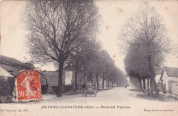 CPA 10 @ BRIENNE Le Château @ Boulevard Napoléon - Auto - France