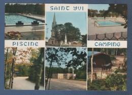 29 FINISTERE - CP MULTIVUES SAINT IVY - PISCINE - CAMPING DU BOIS DE PLEUVEN - EDITIONS D'ART JOS LE DOARE R. 447 - Other Municipalities