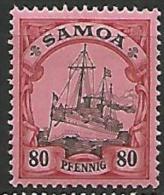 SAMOA   N�  50  NEUF* TTB /  TRACE DE CHARNIERE