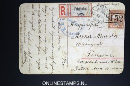 Hungary: Postcard Praying Emperor Registered Felsökabol To Temesvar / TimiÈ™oara In Rumenia 1903 Nice Cancels