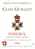 Etiquette Clos Guillot Pomerol 1973 - Bordeaux