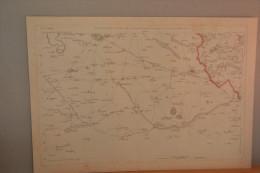 Cassel Et Sa Région. Grande Carte Fin 18eme (Hazebrouck,Aire,Bailleul...) - Estampes & Gravures