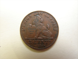 MD. Mo. 30. Albert Ier. 2 Centimes. 1912. Fr - 1909-1934: Albert I