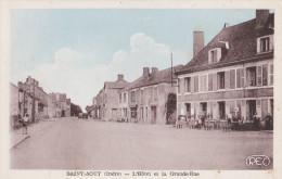 SAINT AOUT L'HOTEL ET LA GRAND RUE Terrasse Avec  Plan Animé - France