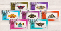 Mongolia CTO Set And SS - Schmetterlinge