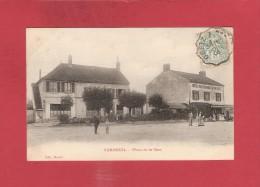 * CPA..dépt 77..VERNEUIL -  L´ ETANG  :  Place De La Gare  :   Voir Les  2  Scans - Frankreich