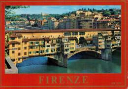 FIRENZE  PONTE  VECCHIO  E COLLINA S. MINIATO      (VIAGGIATA) - Firenze