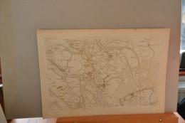 Berg Op Zoom Et Sa Région.(Steenbergen,Tolen) Grande Carte Fin 18eme. - Estampes & Gravures