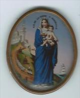 Broche Très Ancienne Peinte, Signée A. C. Notre-Dame De La Garde à Marseille, Protectrice Des Marins - Jewels & Clocks