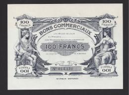 Bon Commercial De 100 Francs De La Villes De Tours - Bons & Nécessité