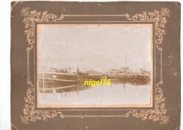 Photo Originale BATELLERIE - P�niches � POSES - Seine + Cahier souvenir manuscrit du batelier Morel 1945