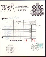 Schaken Schach Chess Ajedrez échecs - Lentetornooi - Tornooikaart (20x24 Cm) - Vieux Papiers