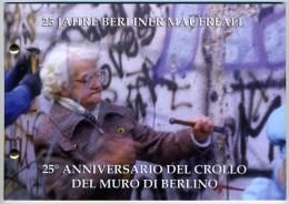 2014 - VATICANO - VATICAN - BUSTA FILATELICO-NUMISMATICA - 25° ANNIVERSARIO DEL CROLLO DEL MURO DI BERLINO - Vatican