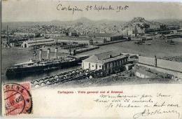 CARTAGENA   Vista General Con El Arsenal ( 1ª Tirada  Circulada ) -171 - Murcia