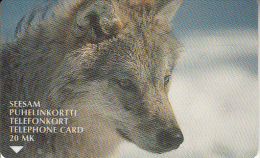 FINLAND - Wolf, Turun Puhelin telecard, CN : 2020, tirage 28500, exp.date 12/01, used