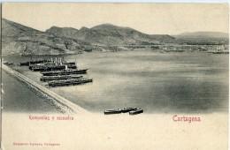 CARTAGENA   Rompeolas Y Escuadra  ( 1ª Tirada  ) -137 - Murcia
