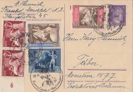 DR GS Zfr. Minr.2x 816,820-822 SST Wien20.10.42 - Briefe U. Dokumente