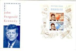 KEN 5 - RUANDA - Bloc Sur FDC En Mémoire De John Kennedy 1965 - Rwanda