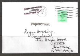 1983 Paquebot Cover, British Stamp Used In Corpus Christi, Texas (Mar 24) - United States