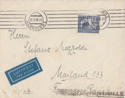 DR Luftpost-Brief EF Minr.669 Hannover 12.10.38 Gel. Nach Italien - Briefe U. Dokumente