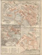 1914´s Color Plan Of TOULON Var France - Landkarten