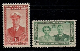 BASUTOLAND 1947 Mint Hinged Stamp(s) Royal Visit 35-38 (2 Values Only, ( Not A Complete Serie) - Basutoland (1933-1966)