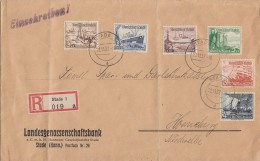 DR R-Brief Mif Minr.651-653,855,657,658 Stade 22.11.37 - Germany