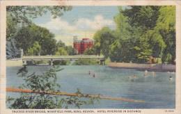 Nevada Reno Truckee River Bridge Wingfield Park 1940