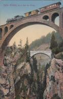AK Solis Brücke, 90m Uber Der Albula, Old Train, Steam Locomotive (pk16197) - GR Grisons