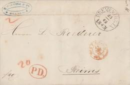 T&T Brief Gelaufen Von Bremen Am 23.12.1865 Nach Frankreich - Thurn Und Taxis