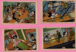 12 CARTES POSTALES--FANTAISIES DE L'ILLUSTRATEUR S.TICK--EN MER LE ROULIS ET L´INDIGESTION--(CHAR 294) - 1900-1949