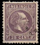 NEDERLANDS INDIE 1870 Used Stamp(s) Willem III 25 Cent Dark Purple Nr. 13 #6044 - Netherlands Indies