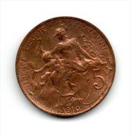 5c 1910 Très Belle Qualité - C. 5 Céntimos