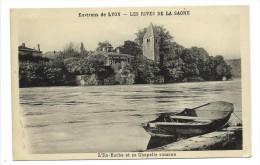 CPA -ENVIRONS DE LYON -LES RIVES DE LA SAONE -L' ILE BARBE ET SA CHAPELLE ROMANE - Lyon