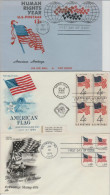 USA--lot Of 3 Flag Covers